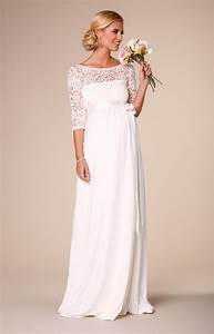 lucia maternity wedding gown long ivory maternity With pregnancy wedding dresses