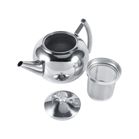 My hubby loves his rican coffee. 1.5L Stainless Steel Tea Pot and Coffee Drip Kettle Pot Teapot With Strainer Stainless Steel ...