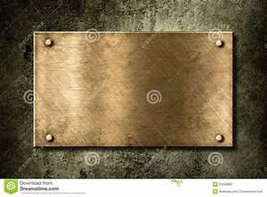 Plaque Isolante Mur : vieille plaque d 39 or ou en bronze sur le mur photo stock ~ Melissatoandfro.com Idées de Décoration