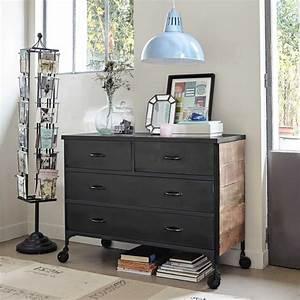 Commode Grise Ikea : commode style industriel maison du monde ~ Melissatoandfro.com Idées de Décoration