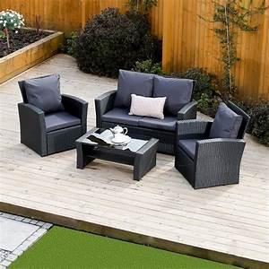 4 Piece Algarve Rattan Sofa Set for patios, conservatories ...
