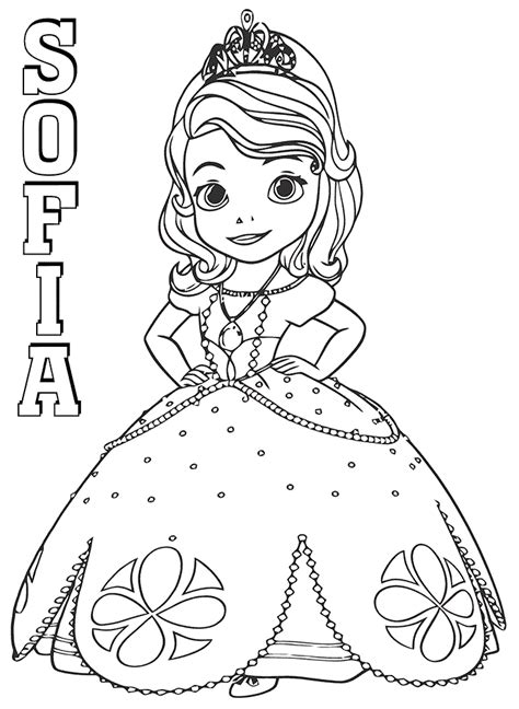 beautiful sofia coloring page  printable coloring pages  kids