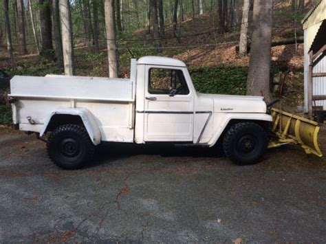 1962 willys jeep pickup 1962 willys jeep pickup with hydraulic snow plow for sale