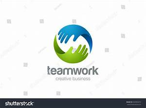 Teamwork Logo Abstract Two Hands Helping Stock Vector ...