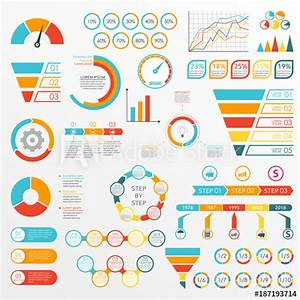 Infographics Set With Charts  Graphs  Funnel  Arrows