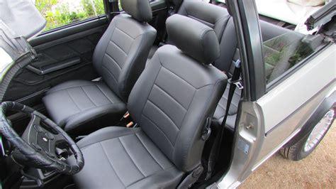 siege cabriolet golf cabriolet mk1 siége de cuir artificiel couvre en noir