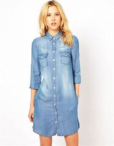 Mango western denim shirt dress online shopping women39s for Robe jean mango
