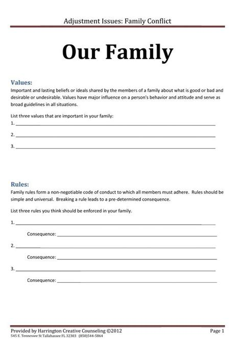 by s sly on work family therapy therapy worksheets