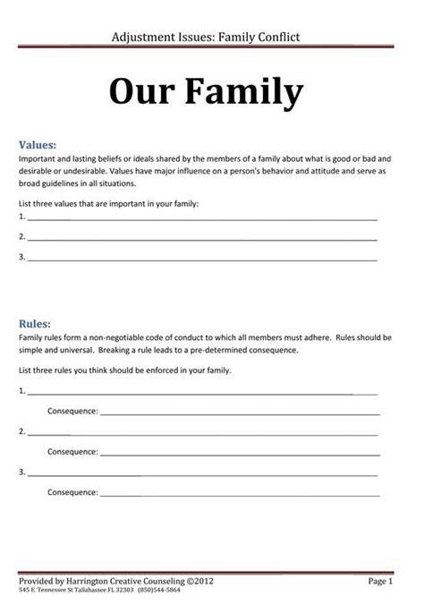 family values  rules worksheetjpg  pixels