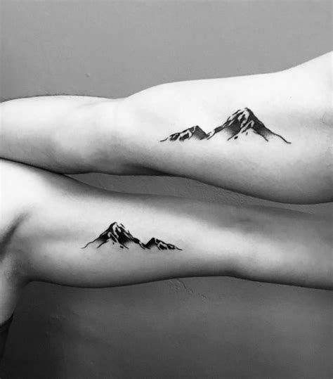 minimalist mountain tattoo ideas  men outdoor
