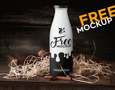 You can change cream and cap color. Free Milk Bottle Mockup PSD | Mockuptree