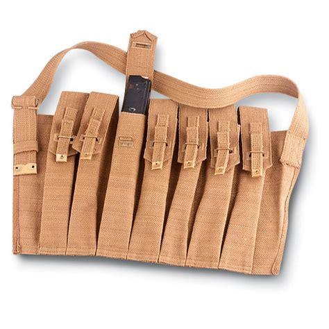 wwii sten gun mag pouch 3 magazine holder bren smg 9mm arm ebay reproduction wwii sten mag pouch khaki 85312 range bags at sportsman s guide