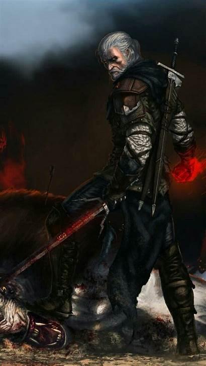 Witcher Geralt Wallpapers Rivia Hunt Wild Phone