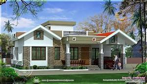 One, Floor, Kerala, Style, Home, Design