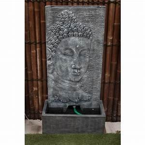 Fontaine Mur D Eau Exterieur : fontaine mur d 39 eau bouddha 140 cm gris containers du monde ~ Premium-room.com Idées de Décoration