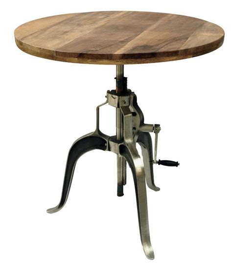 Rw201922 Industrial Adjustable Crank Dining Table With