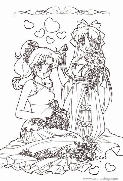 Coloring Sailor Moon Anime Manga Games Avaneshop