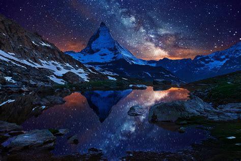 Mountain Milky Way Wallpapers 95 Wallpapers Art Wallpapers