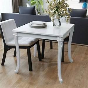 Tv 80 Cm Blanche : acheter vidaxl table de salle manger 80 x 80 x 76 cm ~ Teatrodelosmanantiales.com Idées de Décoration