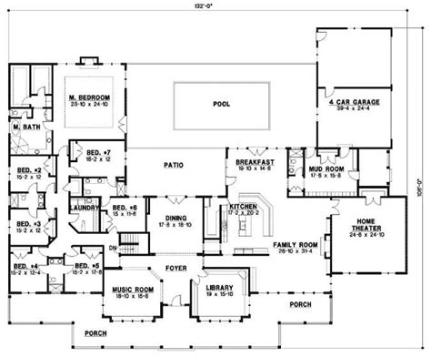 6 Bedroom House Plans by Cool 6 Bedroom House Plans Luxury New Home Plans Design