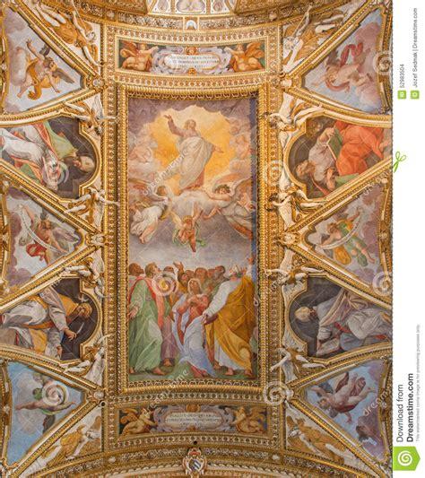 rome le fresque de l ascension du seigneur et de quatre 233 vang 233 listes dans le plafond des di