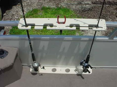 Fishing Rod Holders For A Pontoon Boat by Pontoon Boat Fishing Rod Holder Load N Lock 4 Rod Ebay