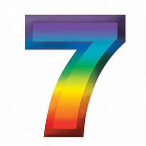 Party Decorations - Multi-Color Plastic 3-D Number ''7