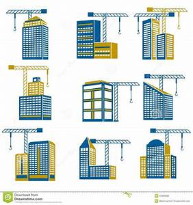 Building Construction Icons Stock Vector - Image: 40459962