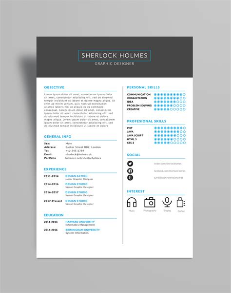 Great Cv Templates Free by Free Multipurpose Resume Cv Design Template Psd File