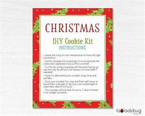Merry Christmas Cookie Kit Instructions  Christmas Diy