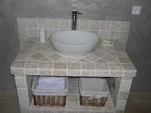 Meuble salle de bain en siporex 9380 sprintco for Siporex salle de bain