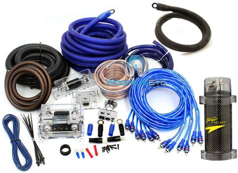 Pkg Gauge Amp Rca Wire Kit Farad Power