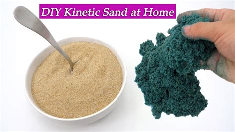 diy kinetic sand diy kinetic sand no flour no borax with natri clorid sand clear glue water color at home