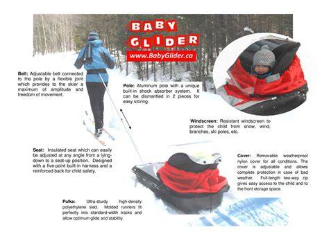 Baby Glider- Cross country skiing with baby - Baby pulka