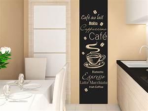 Farbgestaltung Küche Wand : wandtattoo kaffee banner kaffeesorten wandtattoo de ~ Sanjose-hotels-ca.com Haus und Dekorationen