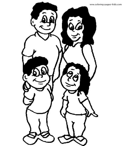 family color page coloring pages  kids family