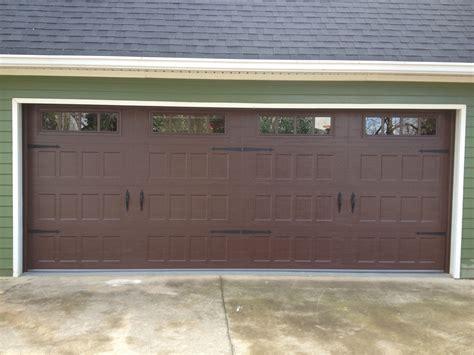 Garage Door Quieter by Steel Recessed Panel Wood Grain Carriage House Garage