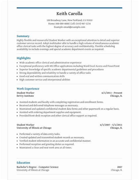 high school student resume template  microsoft word