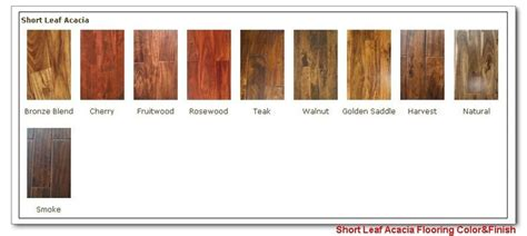 color acacia wood flooring stain color chart
