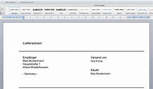 Muster Lieferschein : lieferschein vorlage bzw muster word vorlagen ~ Themetempest.com Abrechnung