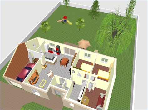 Plan Maison Plain Pied 4 Chambres 3d Rn73