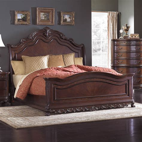 Bedroom Furniture Sets On Ebay by Beautiful Burl Inlay Sleigh Bed Bedroom Furniture Ebay