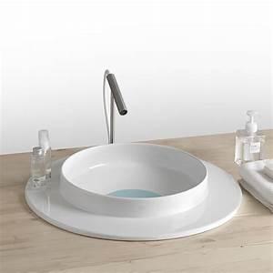 Lavabo Tondo Per Bagno In Ceramica Design Moderno Kathy