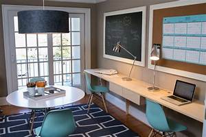 20 home office designs decorating ideas for small spaces With what kind of paint to use on kitchen cabinets for curious george wall art