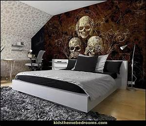 Decorating theme bedrooms - Maries Manor: skull bedding