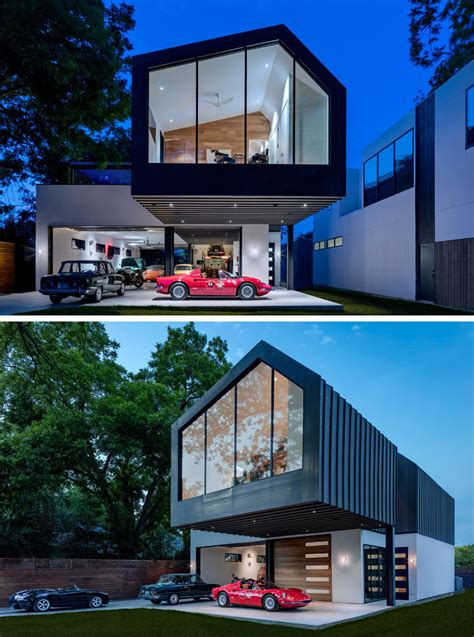 house  texas  designed  include  collector car showroom