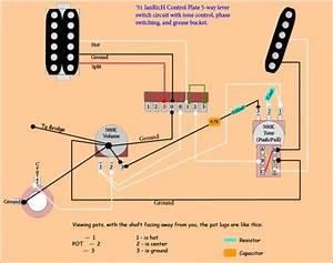 Stratocaster Grease Bucket Tone Wiring Schematics