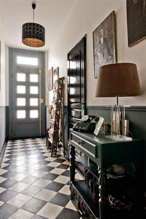 carrelage original couloir  carreaux de ciment