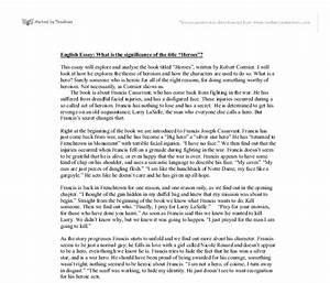 Robert Cormier Heroes Essay Research Paper Purpose Robert Cormier  Robert Cormier Heroes Essay Of