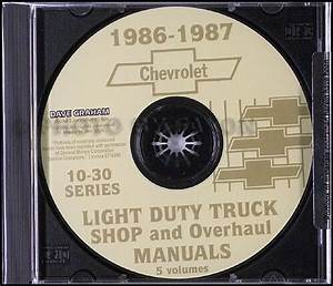 1986 Chevy Truck Cd Shop Manual And Wiring Diagrams Pickup